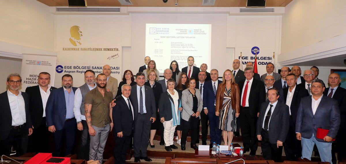 MHGF Sektörel İletişim Toplantısı İzmir'de gerçekleşti: Eximbank'tan tekstilcilere alacak sigortası önerisi